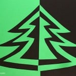 Symmetry Christmas Tree Art Project for Kids
