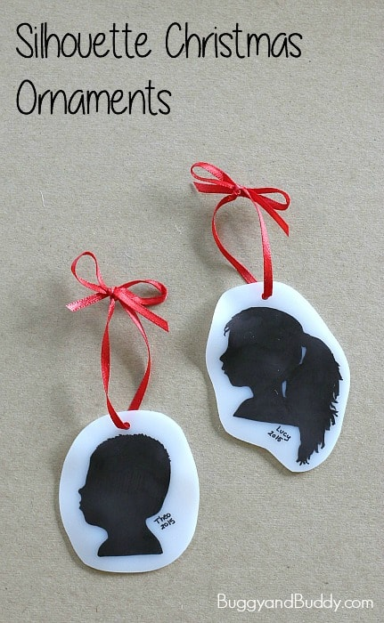 diy silhouette christmas ornament craft such a simple and special keepsake buggyandbuddy