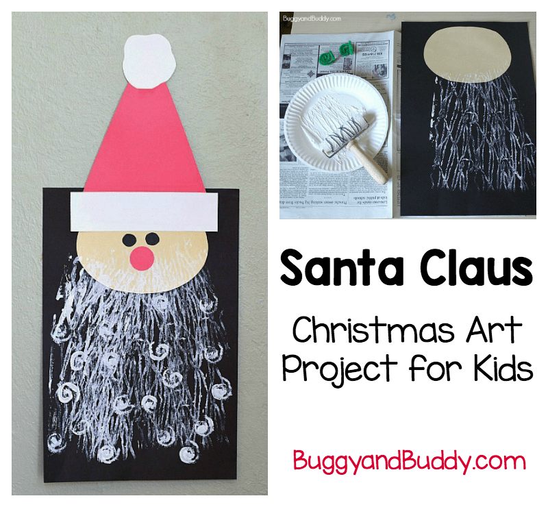 Santa Claus Printing Art Project For Kids