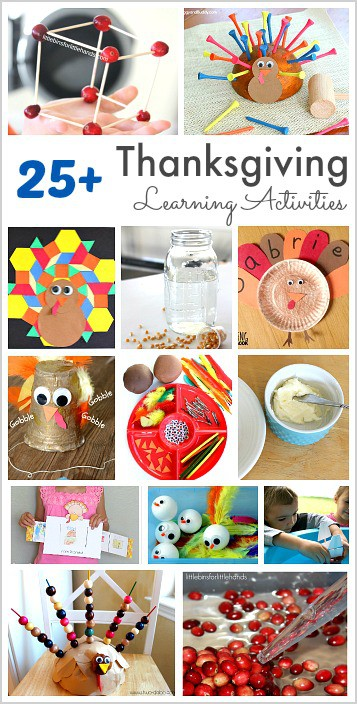25+ Educational Activities for Thanksgiving (including math, science, language arts, and sensory play!)