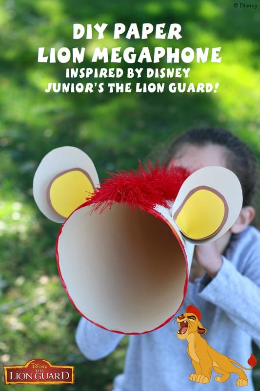 DIY Paper Megaphone Inspired By Disney Juniors The Lion Guard