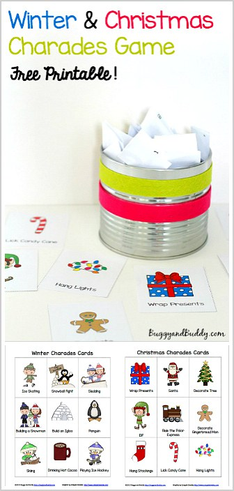 image regarding Printable Charades Cards called Wintertime and Xmas Charades Totally free Printable Video game for Young children
