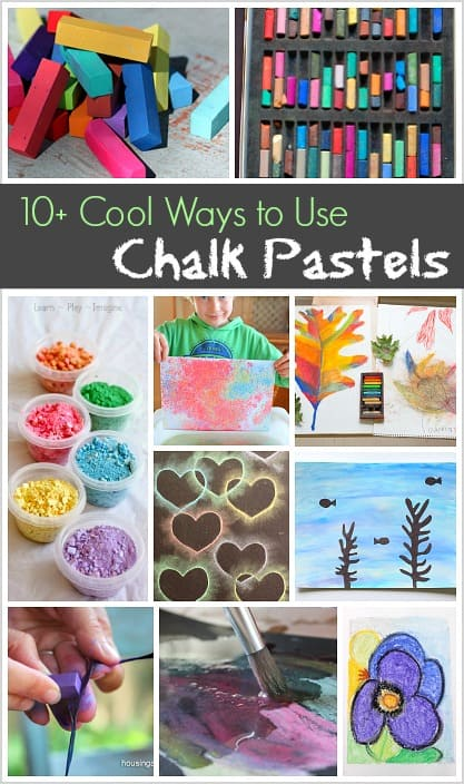 10 Cool Ways To Use Chalk Pastels Buggy And Buddy