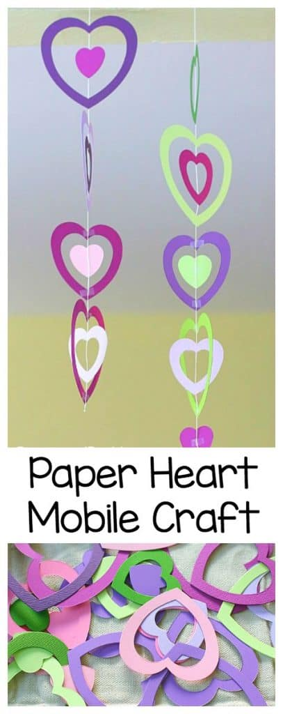 Paper Heart Mobile