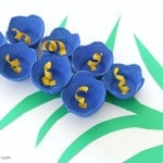 Bluebells Egg Carton Flower Craft for Kids