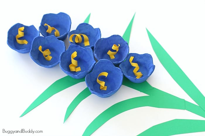 Craft Flowers For Kids Part - 27: Bluebells For Spring: Egg Carton Flower Craft For Kids- Perfect For Spring,  Easter