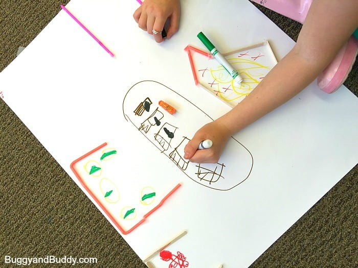 STEM Challenge for Kids: Create mazes and obstacles for Hexbugs using straws