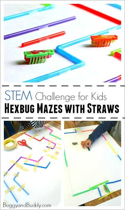 STEM Challenge for Kids: Build a Hexbug Maze with Straws (Fun science activity for a class or rainy day!) ~ BuggyandBuddy.com