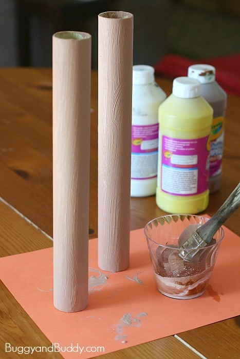 paint your cardboard tube