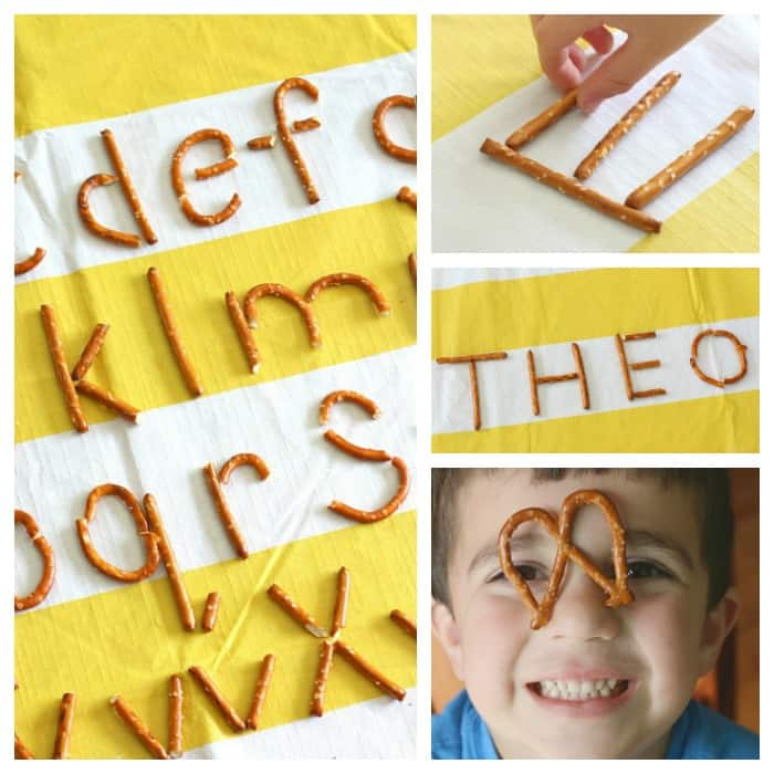 ABC's for Preschool: Make letters of the alphabet using pretzels