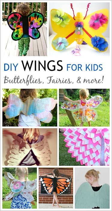 DIY Wings for Kids: Tutorials for making butterfly wings, fairy wings, bat wings, angel wings and more!