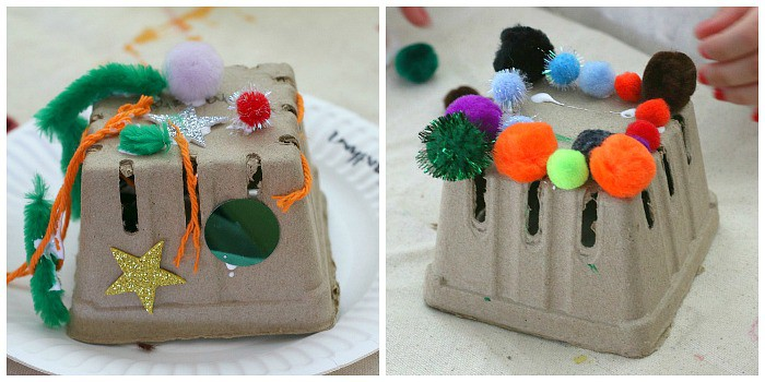making houses for pet rocks- craft for kids