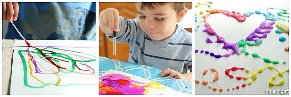 process art activities for kids using watercolors