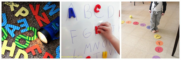 practicing letter sounds