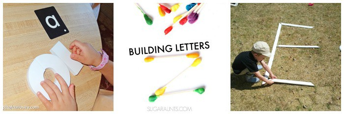 building letters of the alphabet