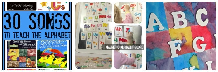hands-on alphabet exploration for preschool