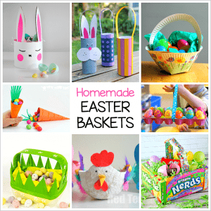 12 Adorable Homemade Easter Basket Crafts for Kids