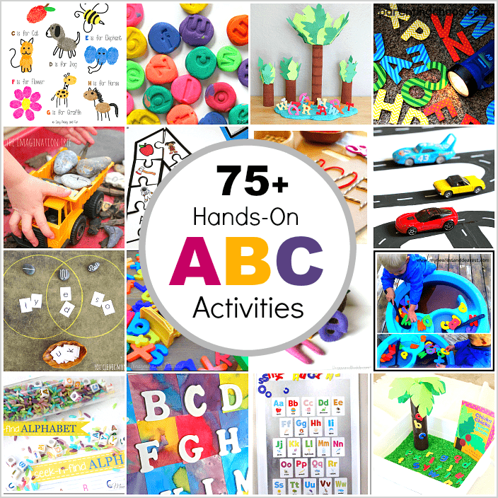75+ Hands-On Ways for Kids to Explore the Alphabet: Practice letter recognition, letter sounds, letter writing, and explore the ABC's through sensory play!