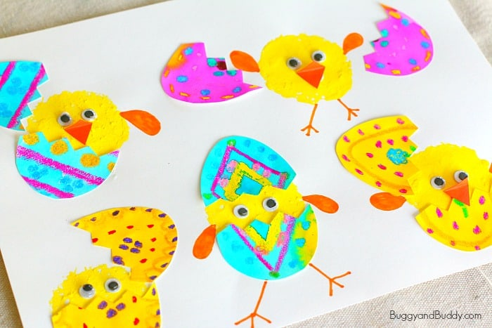 Hatching Spring Chicks Craft for Kids: Perfect art project for spring!