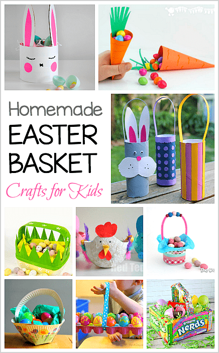 12 Homemade Easter Basket Crafts For Kids