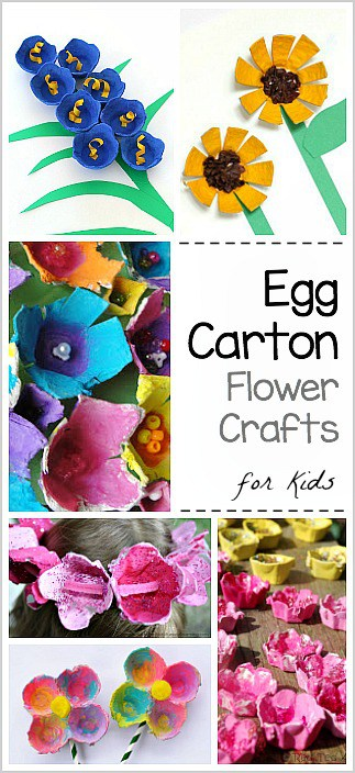 Egg Carton Flower Crafts for Kids- Perfect for spring or Mother's Day!