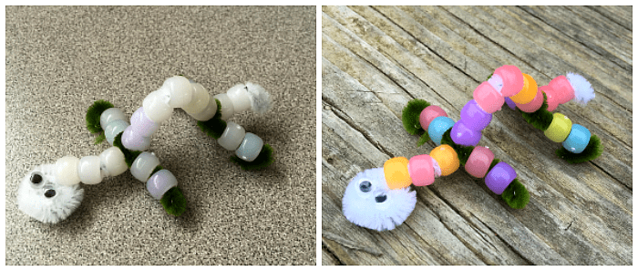 uv-senstive bead animal craft for kids