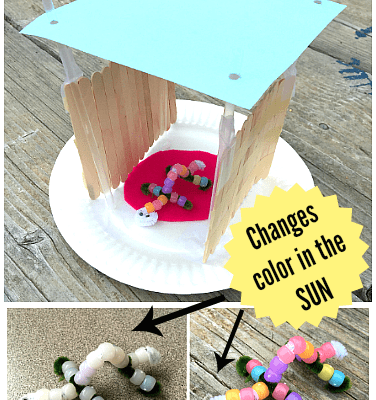 STEM Challenge for Kids: Build a Shelter from the Sun and Test it with UV-Sensitive Beads