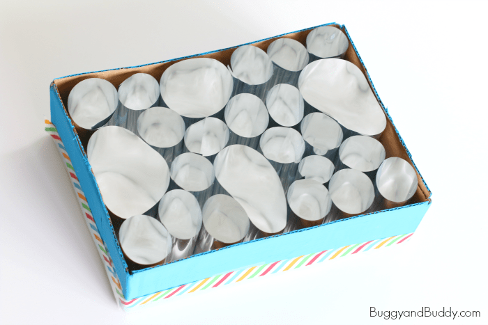 STEM activity for Kids: Study light patterns with a homemade mylar light box