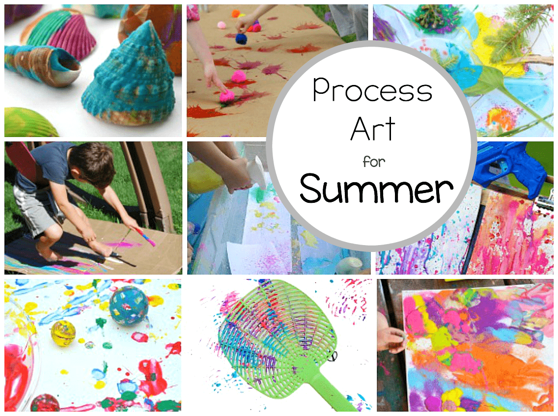 Process Art Activities for Summer