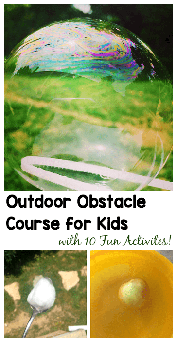 Active Learning Obstacle Course- Fun outdoor play activity perfect for summer and kids of all ages!