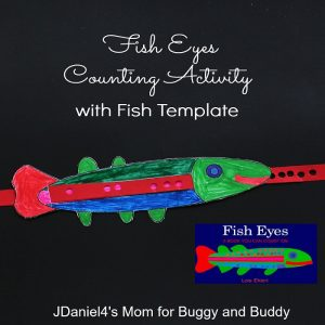 Counting Activity for Kids Inspired by the Book Fish Eyes