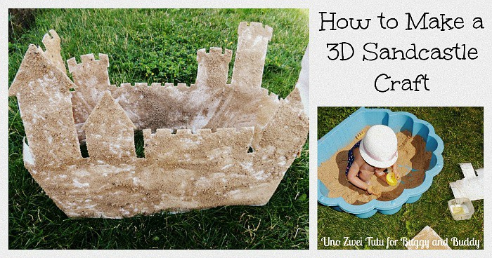 how to make a 3-d sandcastle craft using sand