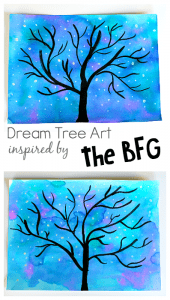 Dream Tree Art Project for Kids inspired by Disney's The BFG