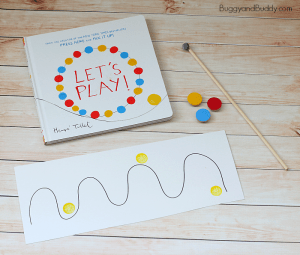Creative Magnet Activity for Kids inspired by Herve Tullet's Let's Play!