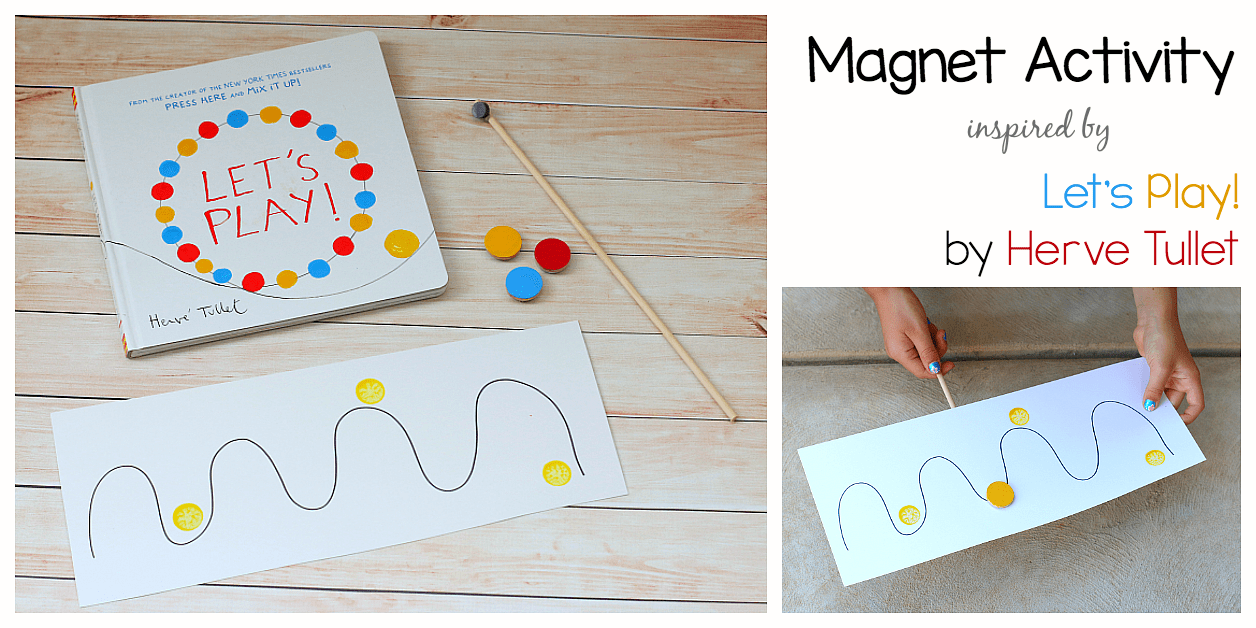 Creative Magnet Activity For Kids Inspired By Herve Tullet S Let S Play Buggy And Buddy