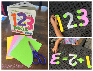 Easy PEASy Math Activity for Kids Inspired by the Book 1-2-3 Peas