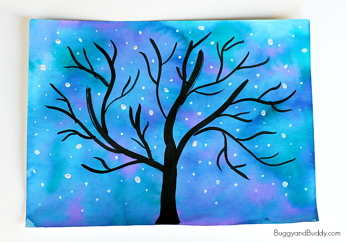 Starry Night Sky Art Project for Kids - Buggy and Buddy