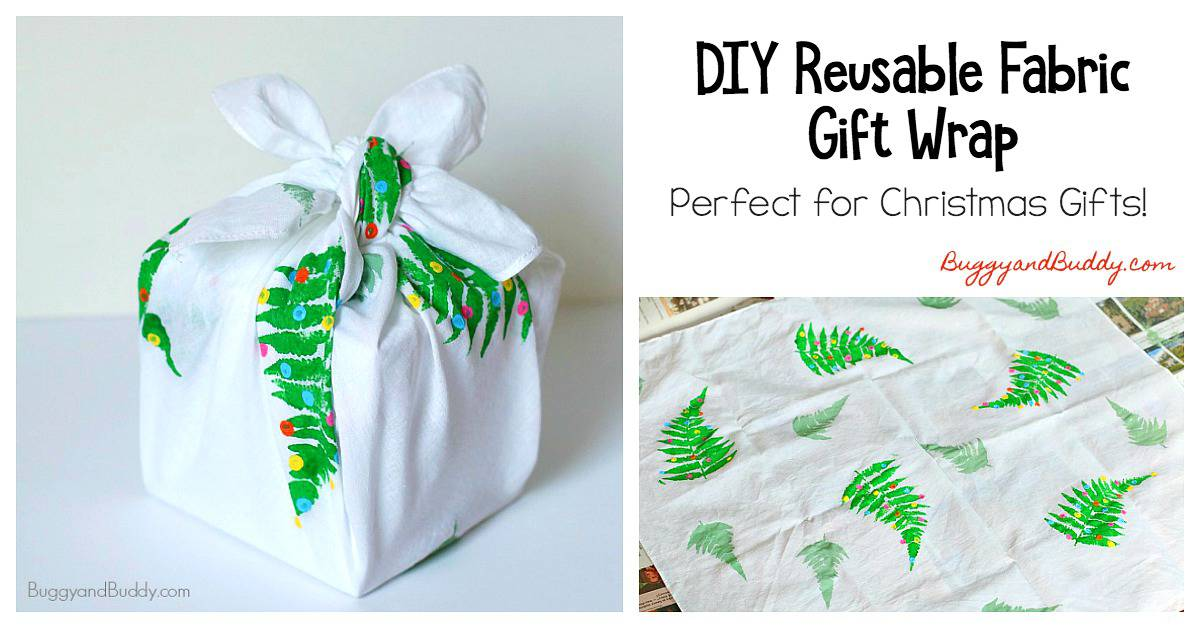 DIY Reusable Gift Wrap Using Fabric (Furoshiki)- Perfect for Christmas gift wrapping!