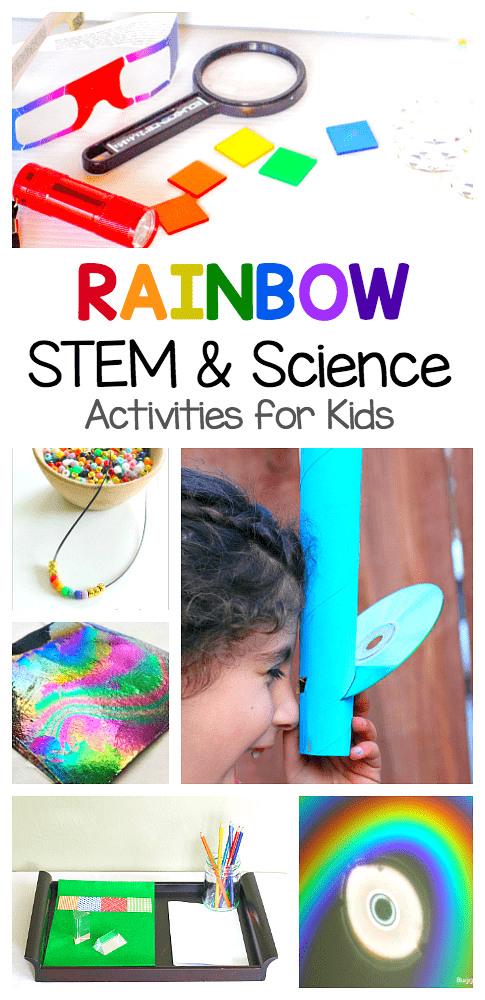 rainbow science and rainbow STEM