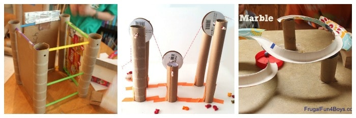 science activities for kids using cardboard tubes like toilet paper rolls, paper towel rolls