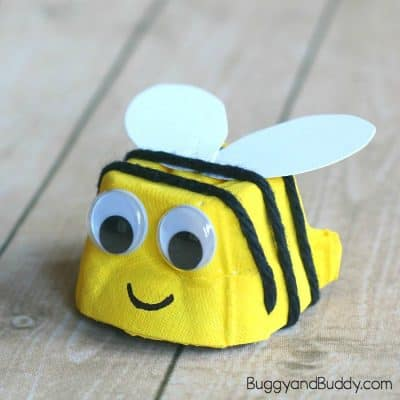 Egg Carton Bee Craft for Kids