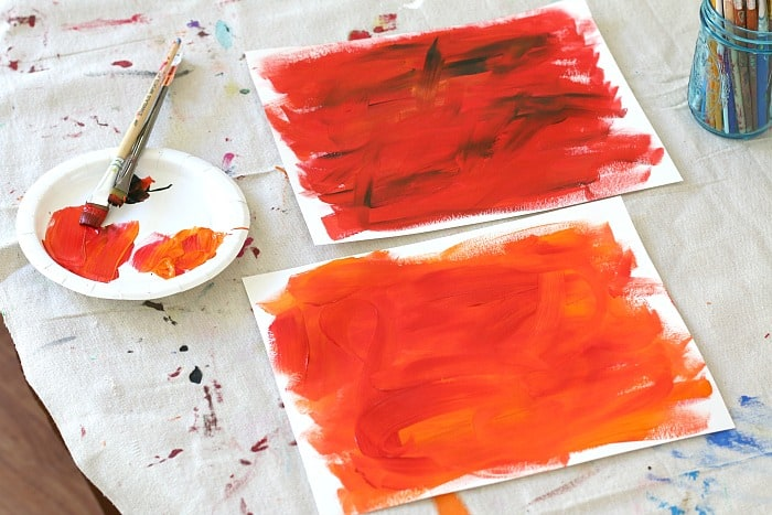 make collage paper for eric carle firefly craft