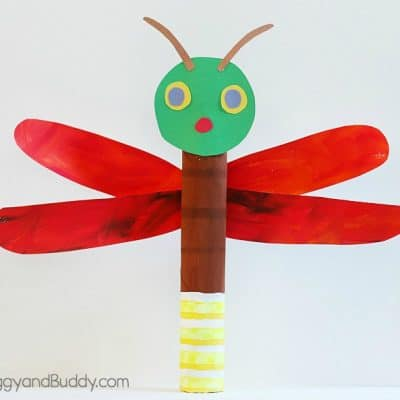 Paper Towel Roll Firefly Craft for Kids