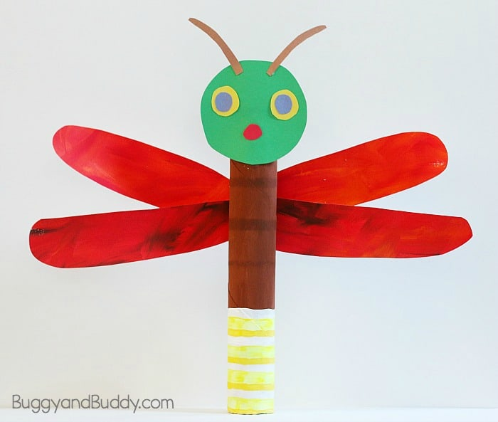cardboard tube firefly craft inspired by eric carle