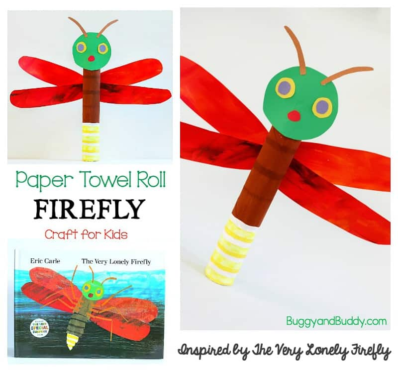 picture about Firefly Template Printable identified as Paper Towel Roll Firefly Craft for Youngsters - Buggy and Pal