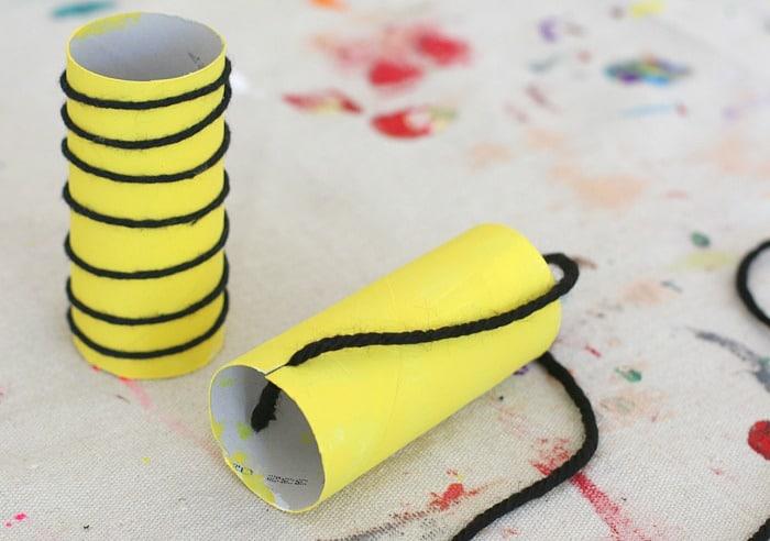 yarn wrapped bee craft