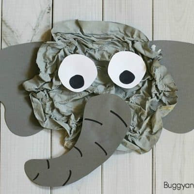 Elephant Craft for Kids Using Crumpled Newspaper