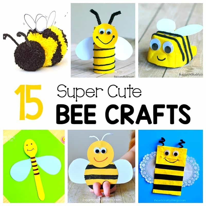 15 Cute Bee Crafts for kids