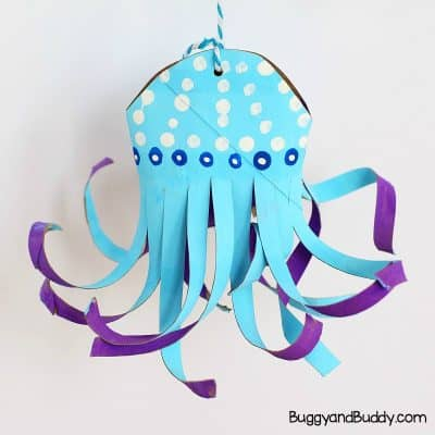 Cardboard Tube Jellyfish Craft for Kids