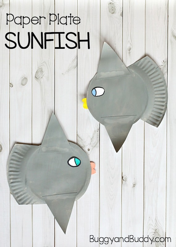 paper plate ocean sunfish craft for kids